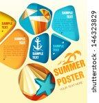 vector summer poster | Shutterstock .eps vector #146323829