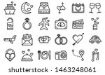 honeymoon icons set. outline... | Shutterstock . vector #1463248061