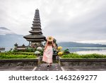 Young Woman  At The Pura Ulun...