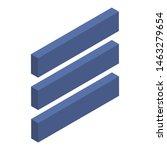 three line icon. isometric of...