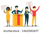 election campaign  vote for... | Shutterstock .eps vector #1463282657