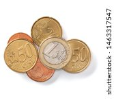 euro coins isolated on white... | Shutterstock . vector #1463317547