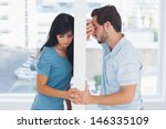 divided couple are separated by ...   Shutterstock . vector #146335109
