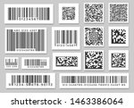 Stock vector barcode labels code stripes sticker digital bar label and retail pricing bars labeling stickers 1463386064