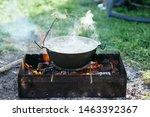 Bonfire Food On Nature Picnic...
