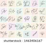 calligraphy alphabet.... | Shutterstock .eps vector #1463406167
