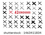 x red mark. cross sign graphic... | Shutterstock .eps vector #1463411834