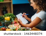 Nutritionist Working In Office. ...