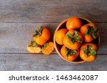 Fresh Organic Ripe Persimmons...