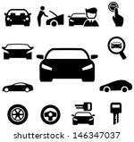 Stock vector car icons 146347037