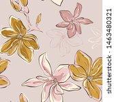 seamless vector floral pattern... | Shutterstock .eps vector #1463480321