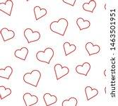 heart linear icons seamless... | Shutterstock .eps vector #1463501951