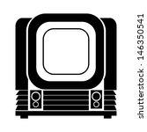 old  vintage tv | Shutterstock .eps vector #146350541