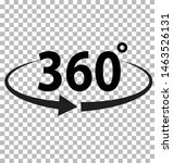 360 degrees icon on transparent ...