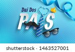happy father's day card in... | Shutterstock .eps vector #1463527001