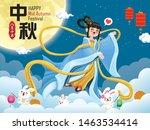 vintage mid autumn festival...   Shutterstock .eps vector #1463534414