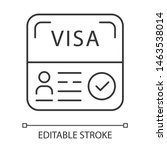 Start Up Visa Linear Icon....