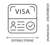 Start Up Visa Linear Icon....