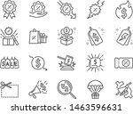 discount line icon set.... | Shutterstock .eps vector #1463596631