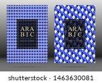 moroccan pattern vector cover... | Shutterstock .eps vector #1463630081