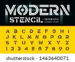 vector of alphabet letters and... | Shutterstock .eps vector #1463640071
