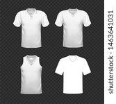 blank t shirt template.... | Shutterstock .eps vector #1463641031