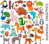 big collection of cute cartoon... | Shutterstock .eps vector #1463679371