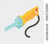 yellow electric saw icon....