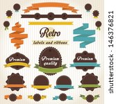 labels and ribbon retro vector... | Shutterstock .eps vector #146376821