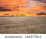 El Mirage Dry Lake With Sunset...