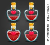 heart bottles with different...
