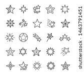 stars linear icons set. various ... | Shutterstock .eps vector #1463791451