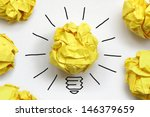 inspiration concept crumpled...   Shutterstock . vector #146379659