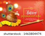 greeting background for hindu... | Shutterstock .eps vector #1463804474