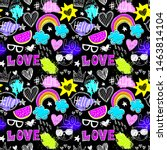 bright seamless pattern with... | Shutterstock .eps vector #1463814104