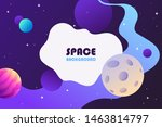 horizontal space background... | Shutterstock .eps vector #1463814797