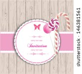 cute invitation card  baby... | Shutterstock .eps vector #146381561