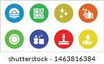 sponge icon set. 8 filled... | Shutterstock .eps vector #1463816384