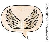 cartoon wings symbol with... | Shutterstock . vector #1463817614
