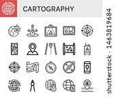 set of cartography icons such... | Shutterstock .eps vector #1463819684