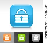 padlock icon set. blue  orange  ...