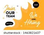 join our team banner design.... | Shutterstock .eps vector #1463821637