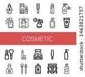 set of cosmetic icons such as... | Shutterstock .eps vector #1463821757