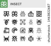 set of insect icons such as... | Shutterstock .eps vector #1463822687