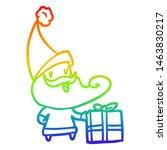 rainbow gradient line drawing... | Shutterstock . vector #1463830217