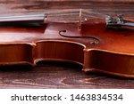 Detail Of Violin Waist. Close...
