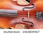 Close Up Old Violin Musical...