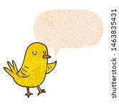 cartoon bird with speech bubble ... | Shutterstock . vector #1463835431