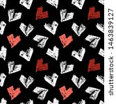 pattern of hearts hand drawn... | Shutterstock .eps vector #1463839127