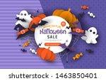 special halloween sale template ... | Shutterstock .eps vector #1463850401